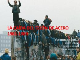 Caída muro de berlín - Historia del mundo contemporáneo