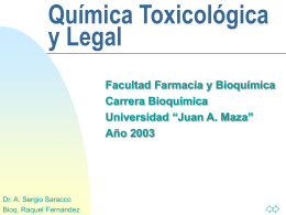 Toxicología y Química Legal