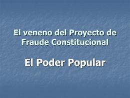 El veneno de la Reforma Constitucional