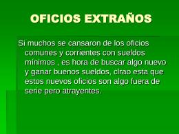 (ivi) - Oficios Extraños