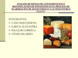 analisis de riesgo de contaminacion e identificación de patogenos