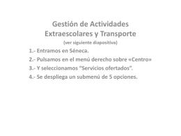 Ejemplo de gestión en Séneca de las Actividades Extraescolares y