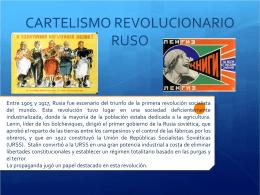 CARTELISMO REVOLUCIONARIO RUSO