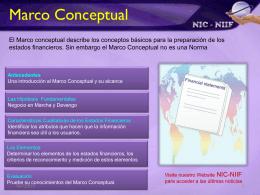Bienvenido al módulo de Marco Conceptual