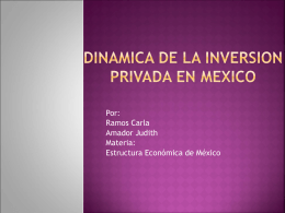DINAMICA DE LA INVERSION PRIVADA EN MEXICO