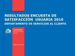 Informe Encuesta de Satisfacción 2010