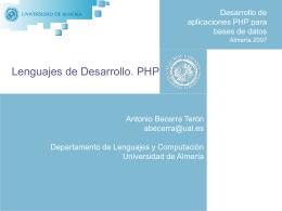 LenguajesPHPII - Universidad de Almería