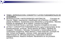 Química, estudio de la composición, estructura y propiedades de las