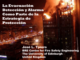 La Seguridad Contra Incendios en las Edificaciones