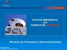 Plan de Emergencia Contra Incendios 3CV