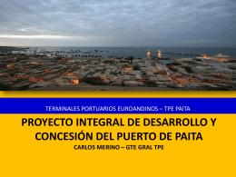 Proyecto Integral de Desarrollo y Concesión del Puerto de Paita