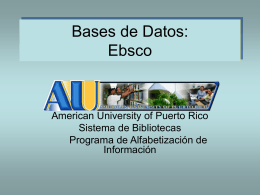 Tutorial Bases de datos Ebsco