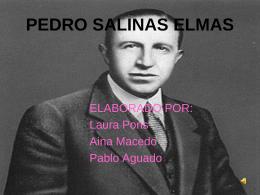 PEDRO SALINAS ELMAS - LicenciadoVidriera