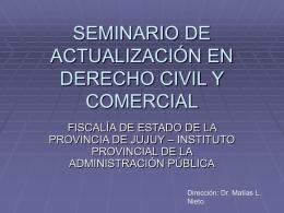 SEMINARIO DE ACTUALIZACIÓN EN DERECHO CIVIL Y