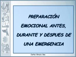 Preparación emocional antes durante y después de