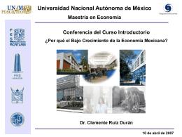 ¿Porqué la economía mexicana observa un lento crecimiento?