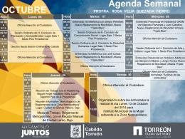 Agenda Semanal PROFRA. ROSA VELIA QUEZADA FIERRO