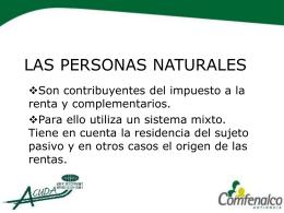 LAS PERSONAS NATURALES