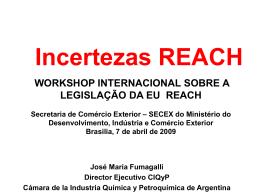 Informe REACH - Ministério do Desenvolvimento, Indústria e