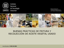 Mayor información del Proyecto - Instituto Nacional de Tecnología