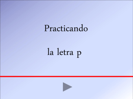 Practicando lectura letra Pp