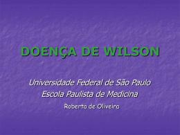 DOENÇA DE WILSON
