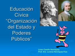 3dif Educación Cívica Organización del Estado y Poderes Públicos