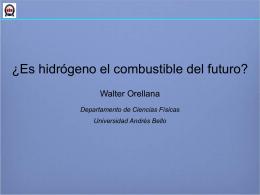 Presentación ¿Es hidrógeno el combustible del futuro?