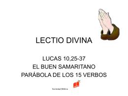 lectio divina lucas 10,25-37 - Cada Católico con su Biblia