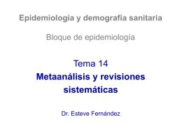 Metaanálisis y revisiones sistemáticas