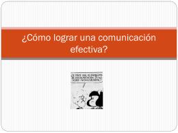 Como lograr una comunicacion