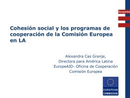 Lograr inclusión y cohesión social en los programas de cooperación