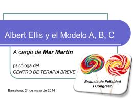 Albert Ellis y el modelo A, B, C
