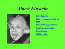 Albert Einstein, un genio con malas notas