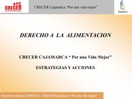 """CRECER Cajamarca """"Por una vida mejor"""""""