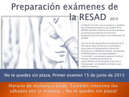 Preparación exámenes de la RESAD - escuela de teatro la lavanderia