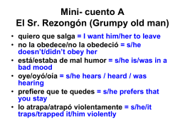 Mini- cuento A - Cobb Learning