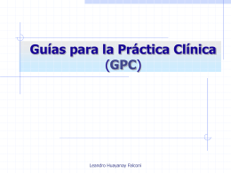 Introducción a la elaboración de Guías de Práctica Clínica