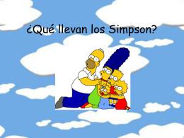 ¿Qué llevan los Simpson?