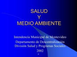 Salud y Medio Ambiente - GAM - Grupo Ambiental de Montevideo