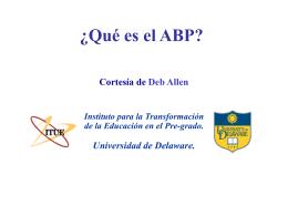 ¿Qué es el ABP?
