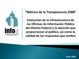 resul_metrica2008 - Instituto de Acceso a la Información Pública