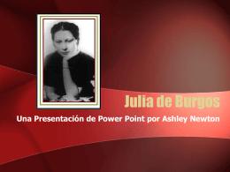 Mientan, Julia de Burgos. - El Mundo Hispano