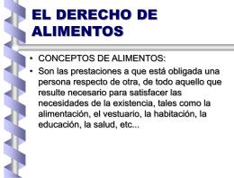 EL DERECHO DE ALIMENTOS