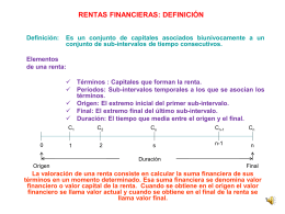 RENTAS FINANCIERAS CONSTANTES Y VARIABLES
