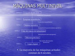MÁQUINAS MULTINIVEL