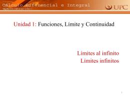límite al infinito