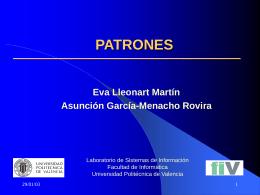 PATRONES - Universidad Politécnica de Valencia