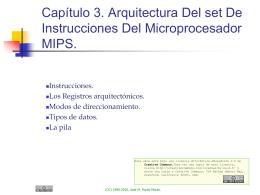 Capítulo 3. Arquitectura Del set De Instrucciones