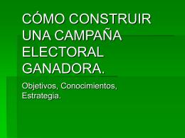 ESTRATEGIA DE CAMPAÑA